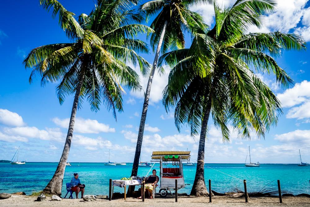 Fruit stand on Moorea, French Polynesia