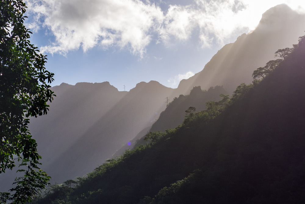 Sunset in the Papenoo Valley, Tahiti, French Polynesia