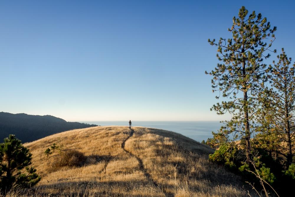 Exploring Big Sur, California. Coastal Ridge Track