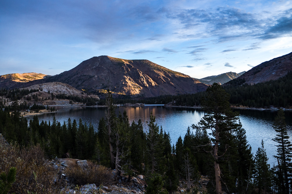 Sunrise at Tioga Lake, Tioga Pass