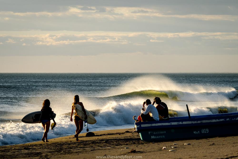 Surfing at Punta Miramar with Surf Tours Nicaragua