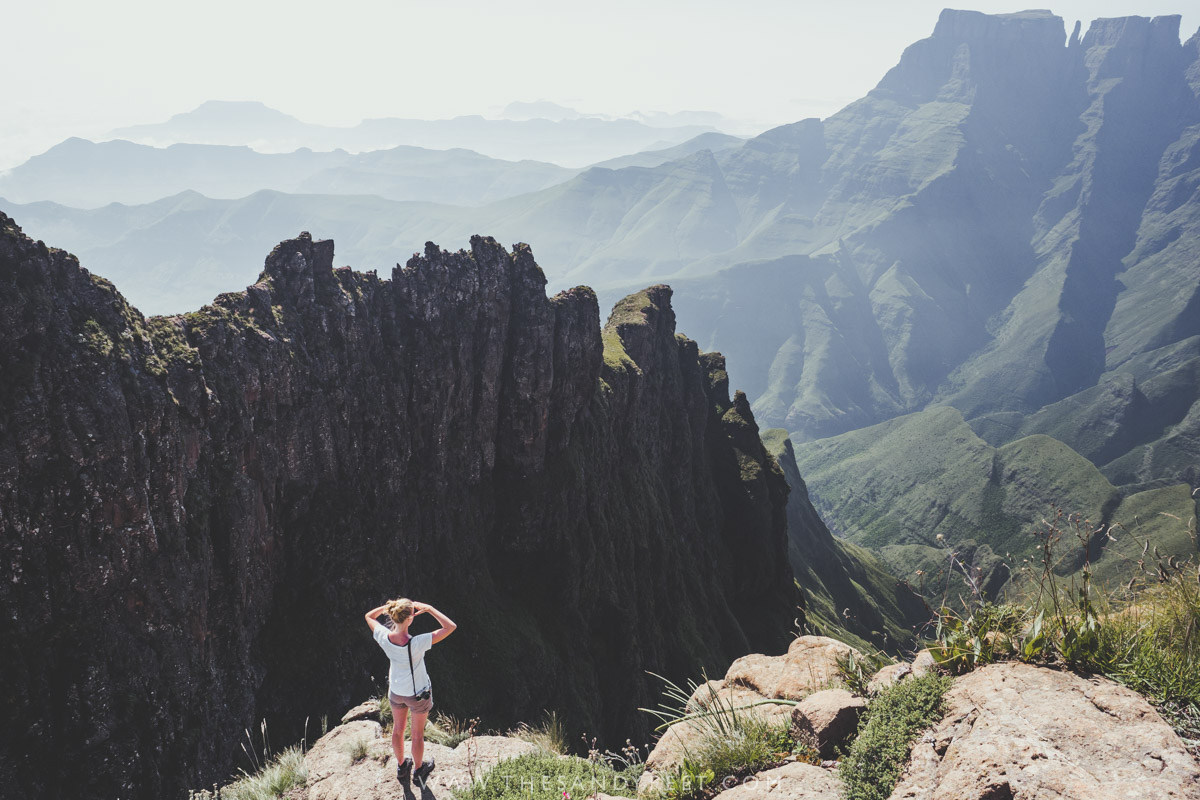 A Complete Guide To Royal Natal National Park Including The Best Hiking Trails, Accommodation and How To Plan Your Trip To The Northern Drakensberg, South Africa   Tugela Falls   Tugela Gorge Trail   Amphitheatre Hike   Drakensberg Hiking