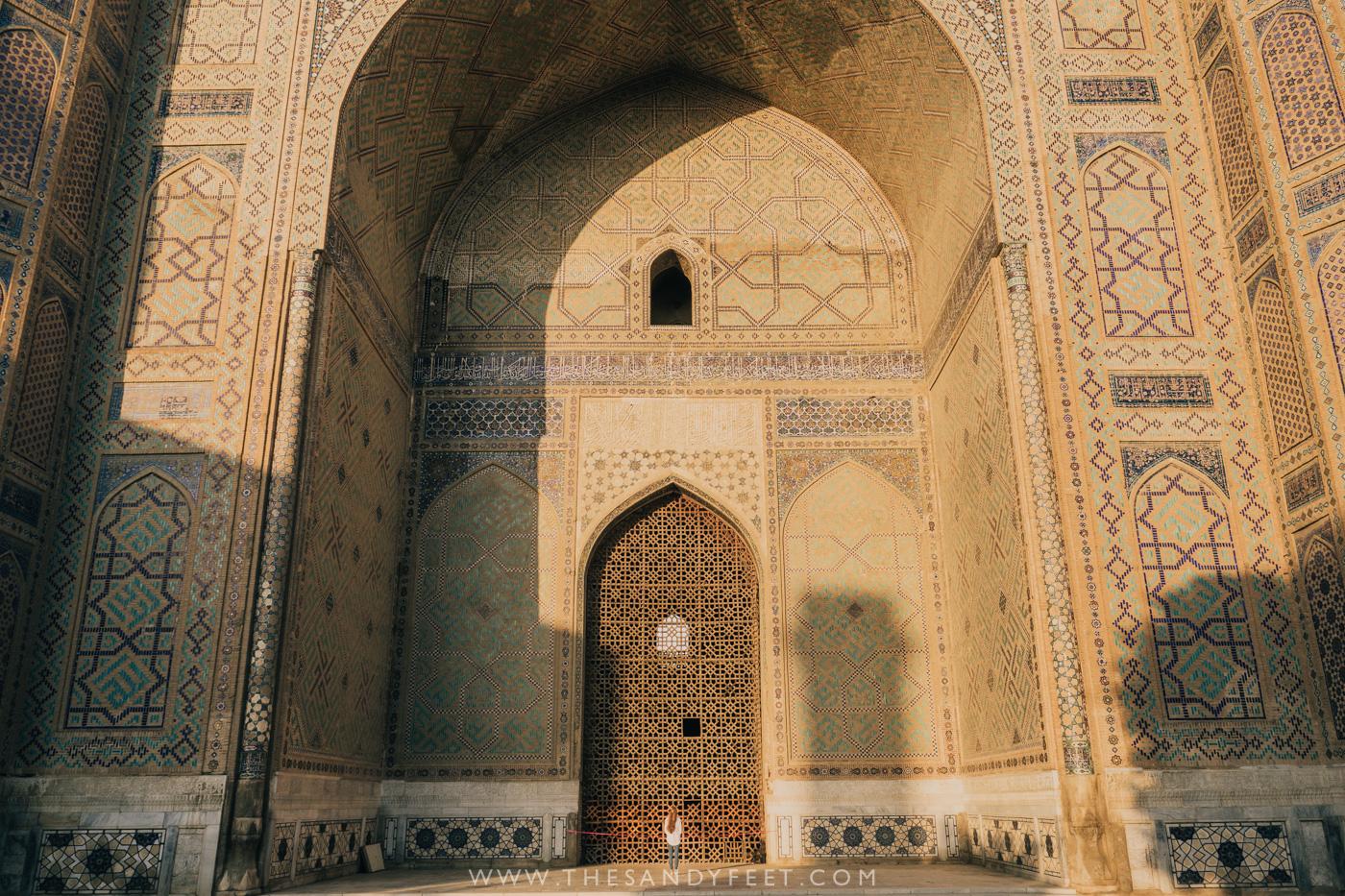 Gazing up at Bibi Khanym Mosque | Samarkand Travel Guide: The Best Things To Do In Samarkand, Uzbekistan