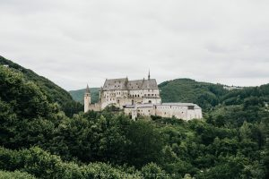 Overlooking Vianden Castle in Luxembourg's North | The Best Things To Do In Luxembourg | Beautiful Places To Visit In Luxembourg