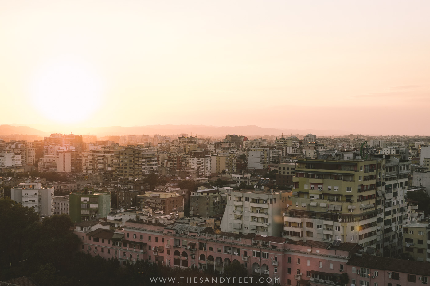 Sunset Views from Sky Bar | Things To Do In Tirana Albania
