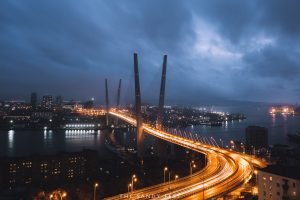 eagle's nest viewpoint overlooking golden bridge. things to do in vladivostok russia.