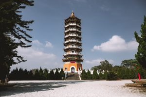 cien pagoda. sun moon lake taiwan. things to do in sun moon lake. cycling sun moon lake.